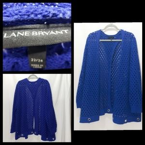 Lane Bryant Plus Size 22/24 Cardigan w/Split Back